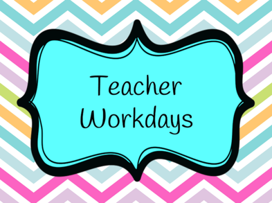 NO SCHOOL  - Teacher Accreditation Workday