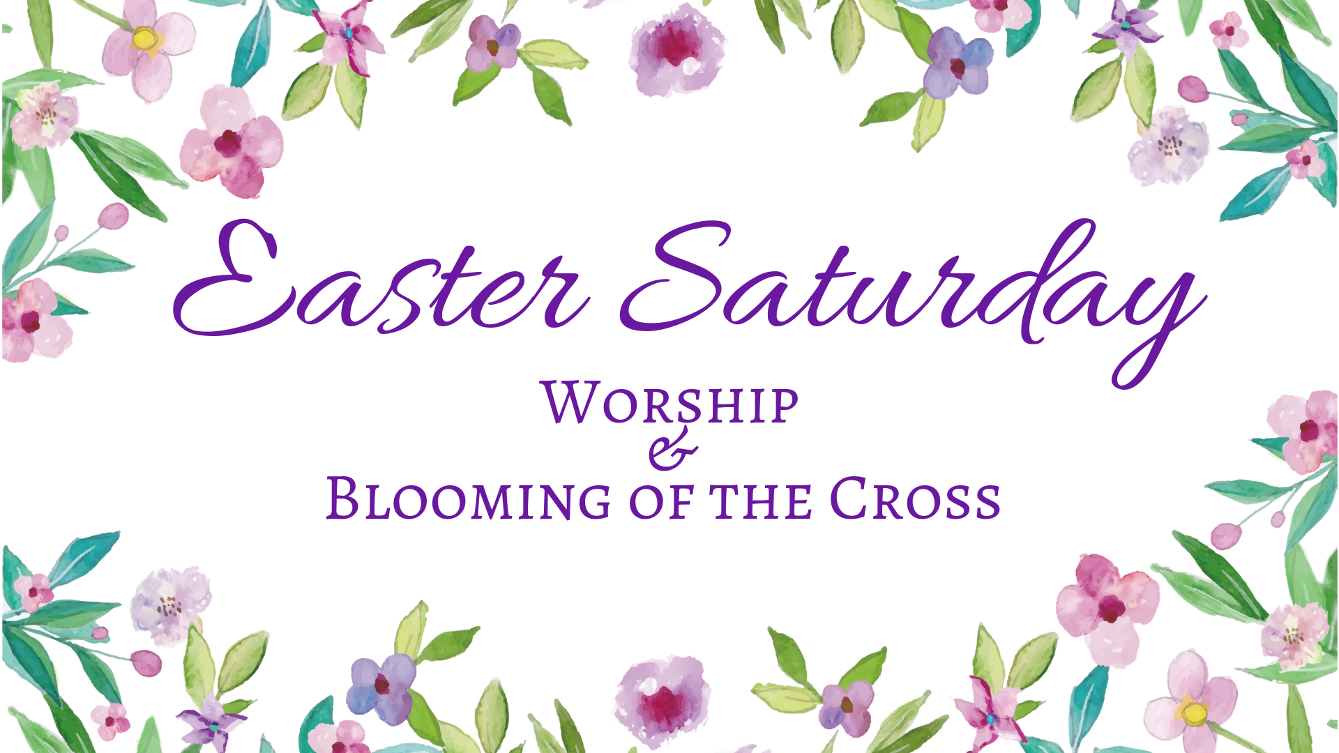 Easter Saturday @ Holy Cross Lutheran Church