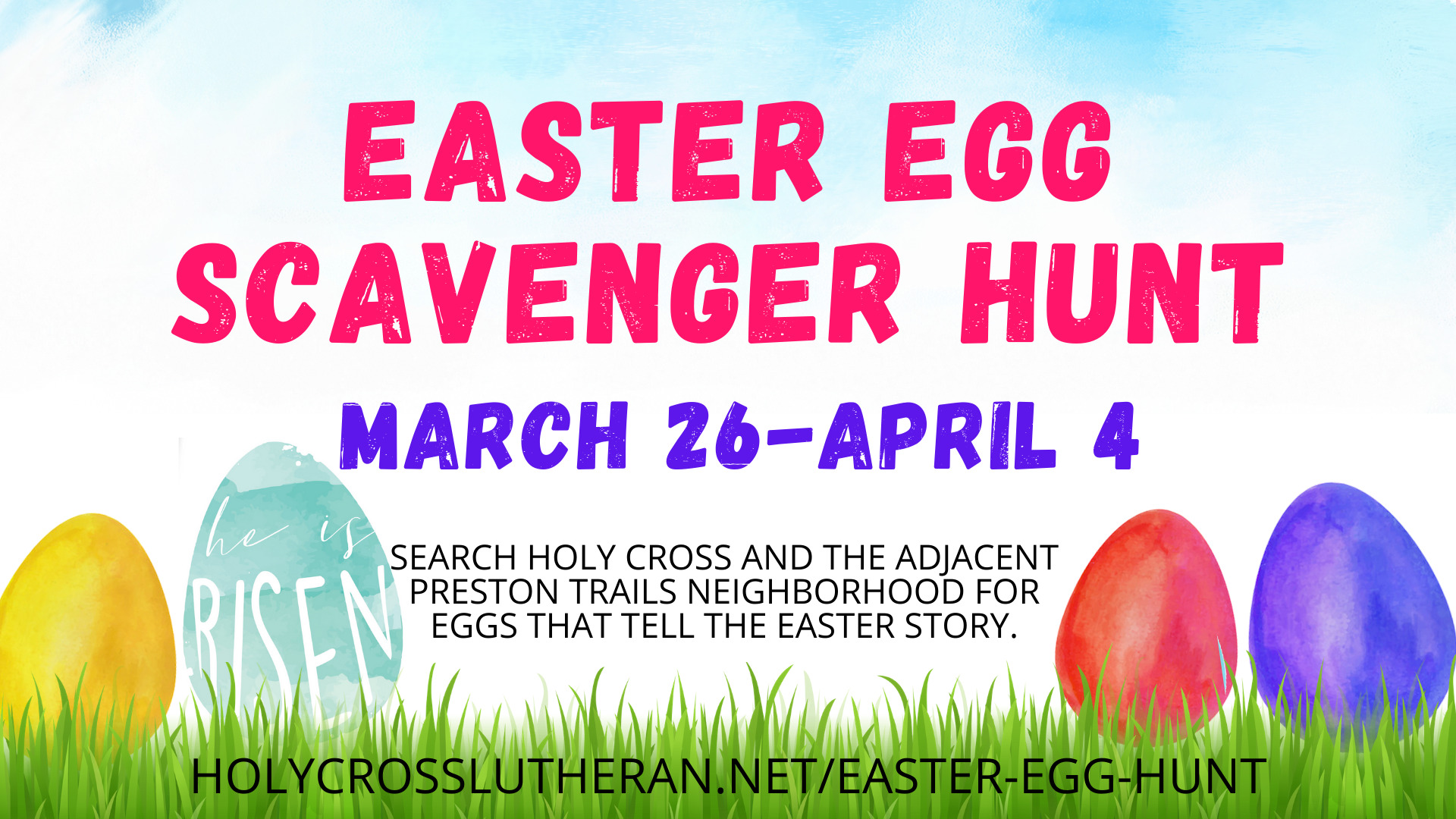Neighborhood Scavenger Hunt, March 26-April 4